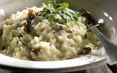 Suppilovahvero­risotto