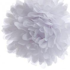 White Tissue Paper Pom Poms (40cm)