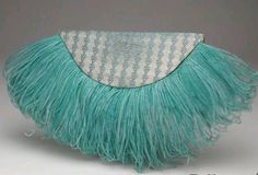 French ~ 1937 ~ with Ostrich Feathers...The year of the Clutch.