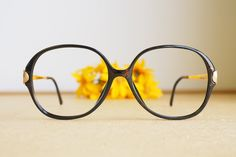 800918c692 Vintage Christian Dior Eyeglasses 1970s Glasses hipster retro disco frames Oversize  Multicolor With Gold temples Made In Austria By Optyl