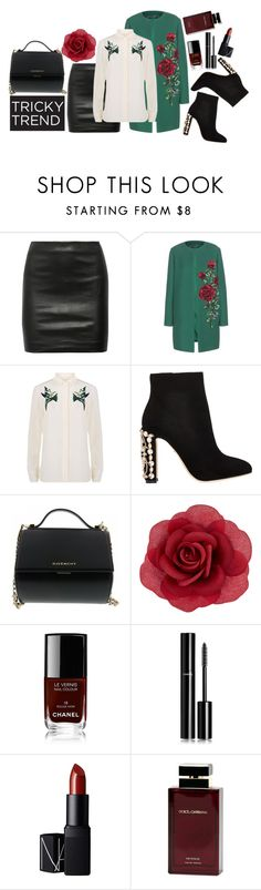 """""""Romantic High-Neck Blouses"""" by yanoch ❤ liked on Polyvore featuring The Row, Dolce&Gabbana, STELLA McCARTNEY, Givenchy, Accessorize, Chanel, NARS Cosmetics, Dolce & Gabbana Fragrance, women's clothing and women's fashion"""