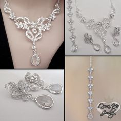 Brides jewelry set  Crystal jewelry set  by QueenMeJewelryLLC