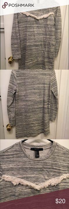 Tinsel detail dress Long sleeve sweater dress with tinsel detail on front Forever 21 Dresses Long Sleeve