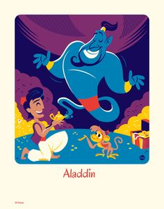 Cyclops Print Works #59: Dave Perillo (print) - Aladdin Limited Edition of 95, Aladdin