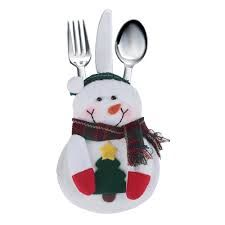 New Snowman Cutlery Tableware Silverware Pouch Holder Christmas Hot Energy Pictures, Xmas Table Decorations, Kitchen Cutlery, Party Supplies, Snowman, Christmas Ornaments, Christmas Christmas, Shapes, Tableware