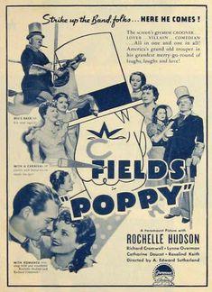 Poppy ~ W.C. Fields 1936 Vintage Movie Ad