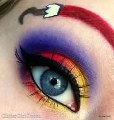 Halloween Make-up: Captain Hook inspirierte die Augen - Makeup Products Fenty Disney Eye Makeup, Disney Inspired Makeup, Clown Makeup, Costume Makeup, Makeup Art, Halloween Makeup, Beauty Makeup, Fun Makeup, Makeup Ideas