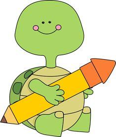 Turtle Holding a Pencil Clip Art - Turtle Holding a Pencil Image Writing Clipart, Turtle Classroom, Turtle Images, Clip Art Library, Owl Clip Art, Project Life Scrapbook, Cute Turtles, Kindergarten Writing, Art Wall Kids