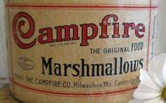 vintage CAMPFIRE marshmallows tin by AntiqueShopGirl on Etsy, $27.00