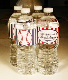 Printable Baseball Party Water Bottle Labels. $6.00, via Etsy.