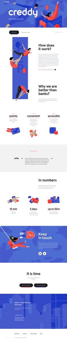 Creddy landing page design inspiration - Lapa Ninja Web And App Design, Site Web Design, Web Ui Design, Dashboard Design, Design Websites, Flat Design, Graphic Design, Interface Web, Interface Design
