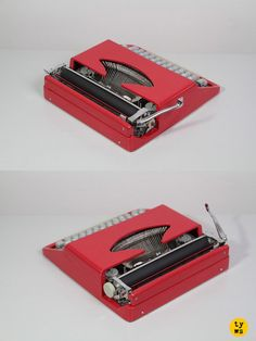 Fun, simple and beautiful Consul typewriter, in original pop red color!
