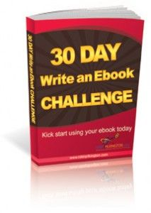 http://www.30daychallenges.nikkipilkington.com/30day/the-30-day-write-an-ebook-challenge/