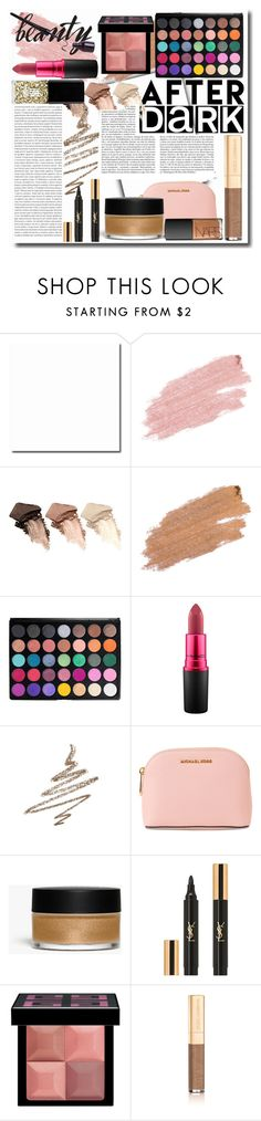"""clubbing"" by colossalkreesteen ❤ liked on Polyvore featuring beauty, Jane Iredale, Urban Decay, Morphe, MAC Cosmetics, Anastasia Beverly Hills, Whiteley, MICHAEL Michael Kors, Oris and Monki"