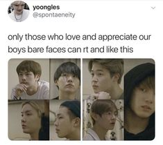 Love them for their hearts, not for their beautiful faces, although they are just as handsome barefaced. Kookie Bts, Bts Bangtan Boy, Park Ji Min, Jung Kook, K Pop, Steven Universe, Bts Love, Bts Memes Hilarious, Bts Tweet