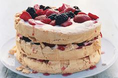 Find the recipe for Three-Layer Berry and Brown Sugar Pavlova and other sour cream recipes at Epicurious.com