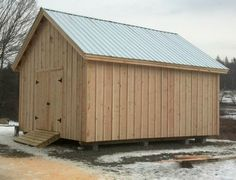 16×20 Barn – Built standard with board and batten, rough sawn, pine siding.