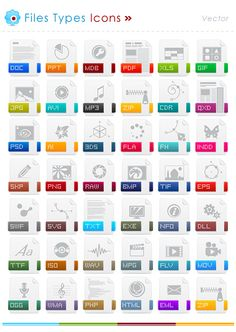 filetype set icons - Google Search