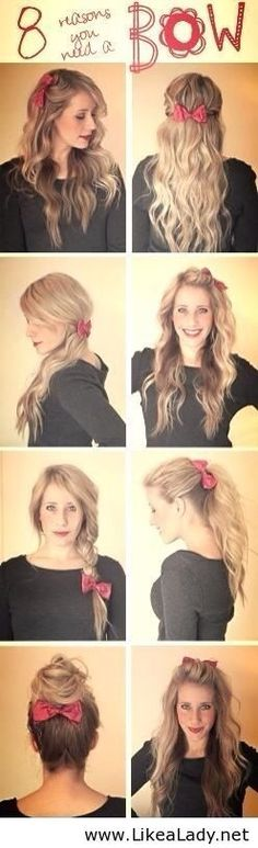 bow #cute hair styles