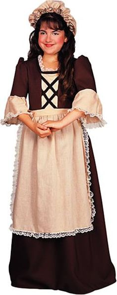 Colonial Girl Costume - Party Depot