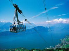 The Weggis – Rigi Kaltbad aerial cable car