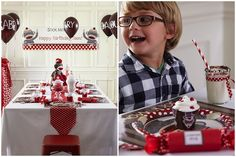 Sock Monkey Party   {supplies from Birthday Party Express}