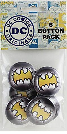 Button set DC Comics Batman Logo Button (6-Piece) 1.25 @ niftywarehouse.com #NiftyWarehouse #Batman #DC #Comics #ComicBooks