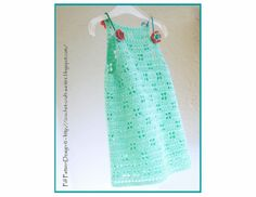 Summer Mint HalterDress with flowers  Crochet by PdfPatternDesign, €5.00