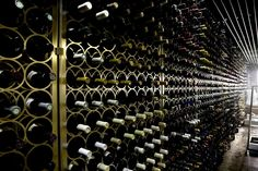 The cellar at Monvinic, Barcelona - one of the great wine bars of the world.