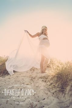 Fawn Over Baby: Skye's Beautiful Beach Maternity Session By Danielle D'Arcy Photography