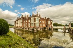 The moated Tudor manor house at Helmingham, Suffolk. HDR image developed in Lightroom English Country Manor, English Manor Houses, British Country, English Castles, Places In England, Castles In England, Small Castles, Castle Pictures, Suffolk England