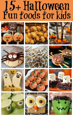 Great ideas from Sarah about Fun Food for Kids at Halloween