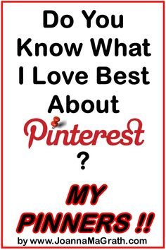 Do You Know What I Love Best About Pinterest?... Sharing like this! Thank you for being here! Monika Freidel