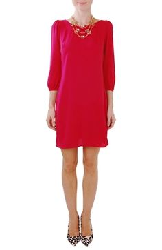 Long Sleeve Zip Back Dress