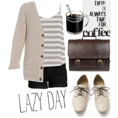 lazy day by anpameta-1 on Polyvore featuring polyvore, Mode, style, maurices, Pieces and Beara Beara