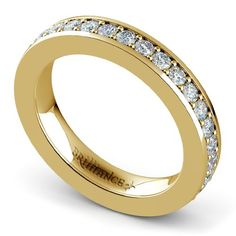 Who doesn't love a classic Yellow Gold diamond ring? Indulge your senses with the warm, golden hue and gorgeous sparkle of the Pave Diamond Eternity Ring in Yellow Gold (1 ctw)! http://www.brilliance.com/wedding-rings/pave-diamond-eternity-band-yellow-gold-1-ctw