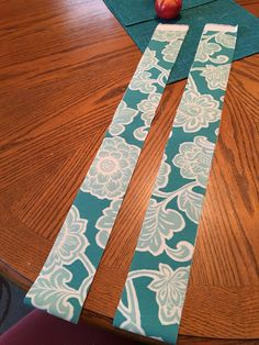 """10. Cut 2 strips of fabric 3 1/2"""" wide by the length you need."""