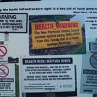 The Waikato and Taranaki District Health Boards have declared of the North Island's West Coast as unsafe for the collection of shellfish. Routine tests on shellfish samples taken have shown high levels of Paralytic Shellfish Poisoning. Drill, Signs, Health, Hole Punch, Health Care, Drills, Shop Signs, Drill Press, Sign