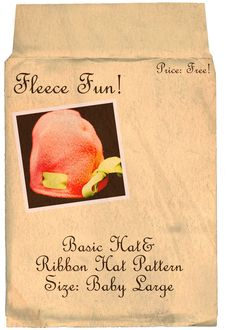 ... free fleece hat pattern ♥ Fleece Fund. This is the basic pattern for