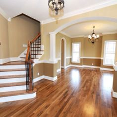 Love the hardwood floors and the wall colors!
