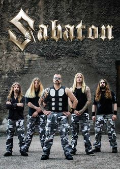 Sabaton Official merchandise - All available items! Metal Bands, Rock Bands, Metalocalypse, Yes Band, Lyrics To Live By, Band Wallpapers, Heavy Metal Rock, Ozzy Osbourne, Metal Girl
