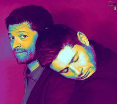Sleepy Piggyback in Wonder by LicieOIC on DeviantArt Jensen Ackles Jared Padalecki, Jensen And Misha, Alexander Calvert, The Hanged Man, Supernatural Art, Dean And Castiel, Misha Collins, Destiel, Superwholock