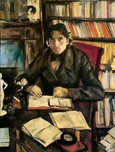 Paul Cézanne, Portrait de Gustave Geffroy, 1895 #artisticaMENte - @Libriamo Tutti - http://www.libriamotutti.it/