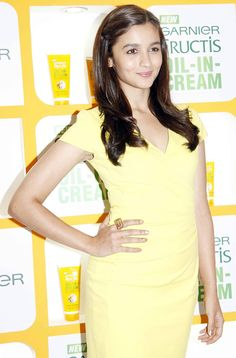 #Alia #Bhatt at an event to promote Garnier Fructis Oil-In-Cream. #Bollywood #Fashion #Style #Beauty
