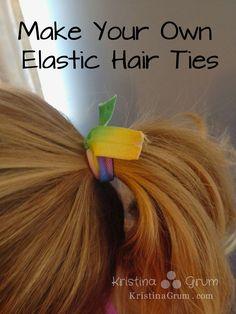 Kristina Grum at Sew Curly: Make Your Own Elastic Hair Ties