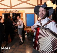 Read about the Oktoberfest Celebration special event we put together. Guests were greeted by costumed actors in Lederhosen as they entered the venue. German Beer, Corporate Events, Special Events, Dancer, Celebration, Actors, Traditional, Music, Fun