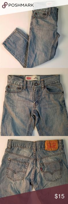 LEVI'S boys denim pants 100% cotton 505 straight W 24 in L 22 in 3 front pockets 2 back pockets  Zipper and button works with no problem Belt hoops all around  Leave me a comment if you have any questions. Thanks for checking out my item. Levi's Bottoms Jeans