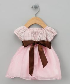 Take a look at this Pink Toile Formal Peasant Dress - Infant, Toddler & Girls by JoJo Designs & Lil Miss Muffin on #zulily today!