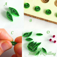 Paper Quilling for Beginners make an Christmas Wreath – perfect as Quilled Earrings or for Greeting Cards (4)