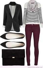 Image result for what to wear with wine trousers